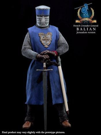 "PANGAEA 1/6 12"" French Crusader Knight General Balian Figure (Jerusalem Version) #PG04B"