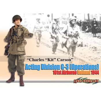 """Dragon 1/6 Scale WWII US 12"""" Cyber Hobby 101st Airborne Charles Kit Carson 70694 #70694"""