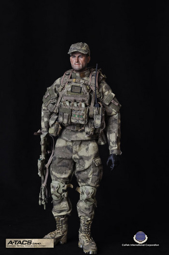 "Cal-Tek 1/6 Scale 12"" A-TACS Advanced Tactical Action Figure CAL-8020 #YC-ATAC"