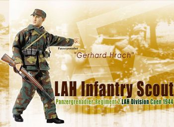 "Dragon WWII German Soldier 1/6 scale 12"" LAH Infantry Scout Gerhard Hrach 70563 #70563"
