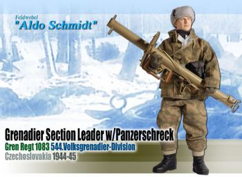 "Dragon WWII 1/6 scale 12"" German Soldier with Panzerschreck Aldo Schmidt 70652 #70652"