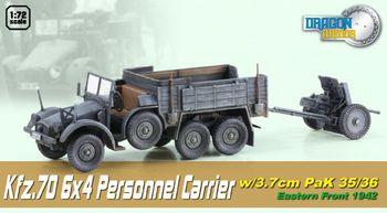 Dragon Armor 1/72 Scale WWII German Personnel Carrier w/3.7cm PaK 35/36 60517 #60517