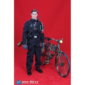 """DID 1/6 Scale 12"""" WWII German HJ Kampfer Captain Dan with bicycle D80079 #80079"""