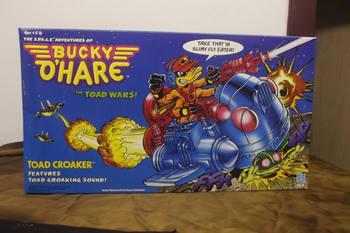 Vintage 1990 Hasbro Space Adventures of Bucky O'Hare Toad Wars Croaker Sealed #BH-20