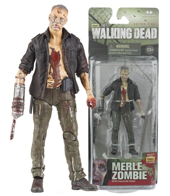 "McFarlane Toys Walking Dead Series 5 Merle Zombie 5"" Action Figure 14534 #WD-016"