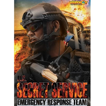 "Very Hot Toys 1/6 Scale 12"" US Secret Service Emergency Response Team Set 1033 #1033"