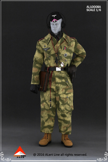 """Alert Line 1/6 Scale 12"""" WWII German Wehrmacht Tank Crew Overalls Set 10008A #10008A"""