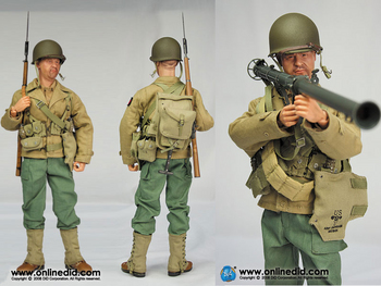 """DID 1/6 Scale 12"""" Soldier WWII US Army Infantry Russell Franklyn A80061 #A80061"""