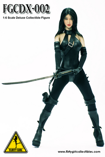 "Flirty Girl Collectibles 1/6 Scale 12"" Female Ninja Assassin Figure FGCDX-002 #FGCDX-002"