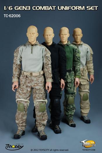 """TOYS CITY GEN3 Combat Uniform Set Digi2 Desert for 1/6 Scale 12"""" Figures 62006A #62006A"""