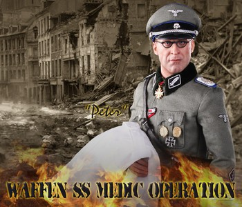 "DID 1/6 Scale 12"" WWII German Waffen Operation Medic Peter Action Figure D80100 #D80100"