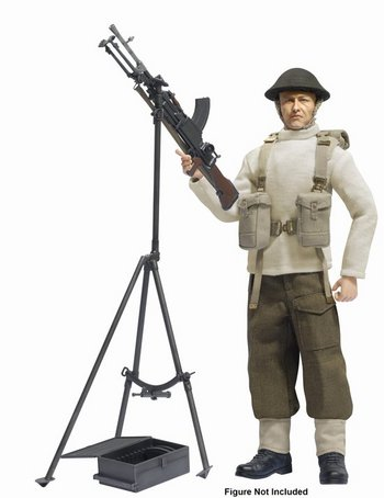 "Dragon Models 1/6 Scale 12"" British Bren Gun with Anti-Aircraft Tripod Kit 75030 #75030"