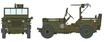 "Dragon 1/6 Scale 12"" WWII US 1/4 Ton Truck with 30 Cal Machine Gun Kit 75050 #75050"