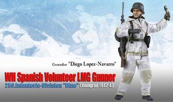 "Dragon 1/6 Scale 12"" WWII German Spanish Volunteer LMG Diego Lopez Navarro 70836 #70836"