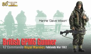 "Dragon 1/6 Scale 12"" British Falklands War Marine Gunner Dave Wilson 70843 #70843"