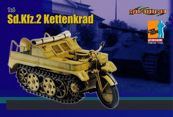 Dragon Cyber-Hobby 1/6 Scale WWII German Sd.KFz.2 Kettenkrad 71334 #71334