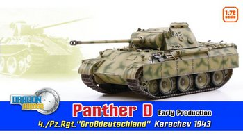 Dragon 1/72 Scale WWII German Panther D Early Production 4./Pz.Rgt. Tank 60596 #60596