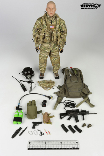 "Very Hot Toys 1/6 Scale 12"" US Army Special Forces HALO Action Figure VH-1039F #VH-1039F"