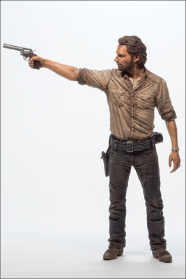 "2014 McFarlane Toys The Walking Dead Rick Grimes 10"" Deluxe Action Figure #MC-001"