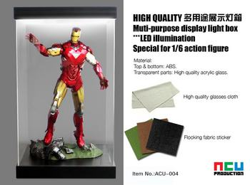 "ACU Acrylic Display Box Case for 1/6 Scale 12"" Action Figure ACU-004 with LED #ACU-004"