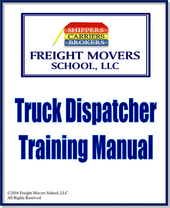 Truck Dispatcher Training Manual #104