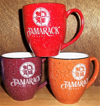 Various Color 16oz. Bistro Mugs Etched Custom Artwork #BMVarious.Custom