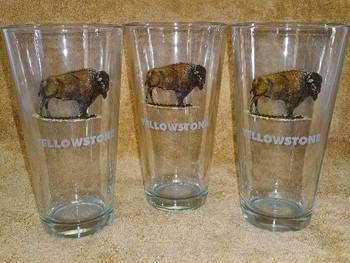 GW10272E.BUFFND - 20oz. Tavern Glass - Buffalo with Etched Name Drop #GW10272E.BUFFND