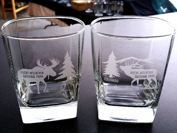 GW434.RMNP - Square Hi-Ball Glasses - Sand Carved -Custom #GW434.RMNP