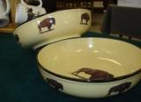 Lodge Collection Serving Bowl (2pc set) - Buffalo LC10052.BUF