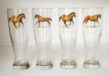 GP820.HRW - Western Horse Glass Pilsners (Set of 4) GP820.HRW