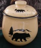 Lodge Collection Cookie Jar - Signature Series - Bear and Mountain Silhouette LCCJ.BERS