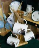 CH112.ELKA - 11 OZ C-Handle Mugs with Elk Head Artwork CH112.ELKA