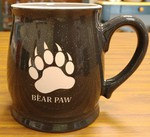 BL10197E.BPAW - 16oz Charcoal Bell Mugs - Sand Carved Bear Paw BL10197E.BPAW