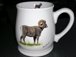 BL10262.BHS - Big Horn Sheep 16oz. White Bell Mug BL10262.BHS