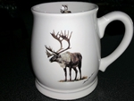 BL10262.CAR - Caribou 16oz. White Bell Mug BL10262.CAR