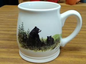 BL10262.LBF - Bear and Cubs 16oz. White Bell Mug BL10262.LBF