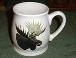 BL10262.MOSA - Moose Head 16oz. White Bell Mug BL10262.MOSA