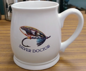 BL10262.SSD - Silver Doctor Salmon Flies 16oz. White Bell Mug BL10262.SSD