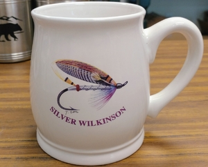 BL10262.SSW - Bell Mug - Bright White - Silver Wilkinson Salmon Flies BL10262.SSW