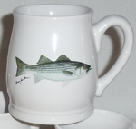 BL10262.STB - Striped Bass 16oz. White Bell Mug  BL10262.STB