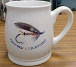 BL10262.STL -Thunder and Lightning Salmon Flies 16oz. White  Bell Mug BL10262.STL