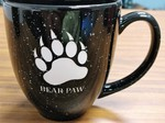 BM10111E.BPAW - 16oz Black Bistro Mugs - Sand Carved Bear Paw BM10111E.BPAW