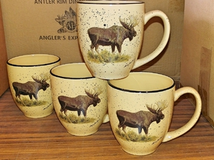 GPB27.MOSB - Almond Bistro Mugs (Set of 4) - Moose Body GP127.MOSB