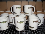CH112.TRTAW- 11 OZ C-Handle Mugs with Trout Series Wrap CH112.TRTAW