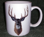 CH112.WTDA- 11 OZ C-Handle Mugs with the Whitetail Deer Head Artwork CH112.WTDA