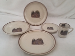 CR10317.CBN - 20pc Classic Rustic Cabin Dinnerware Set CR10317.CBN