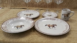 CR10317.HRWLAR - 20pc Classic Rustic Western Horse Series Dinnerware Set CR10317.HRWLAR