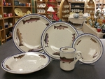 CR10318.TRTA - 20pc Classic Rustic Trout Series Dinnerware Set CR10318.TRTA