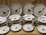CR10318.WFLA - 20pc Classic Rustic Waterfowl Series Dinnerware Set CR10318.WFLA