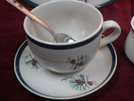 2pc  Pine Cone Soup Cup and Saucer CS034.PINE